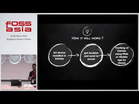 Building Real time Tracking System using IoT and Django - Rajat Ujawane - FOSSASIA Summit 2016