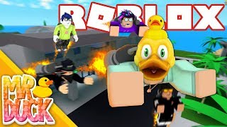 USING THE NEW JETPACK WITH 16 PEOPLE! - Roblox Mad City Airport Update