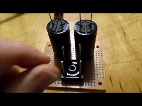 Power supply filter capacitor upgrade for stereo amplifier