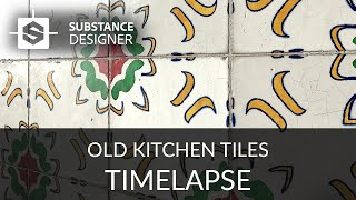 Substance Designer - Old Kitchen Tiles