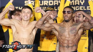 Gennady Golovkin vs. Willie Monroe Jr Full Video- COMPLETE Weigh In + Face Off