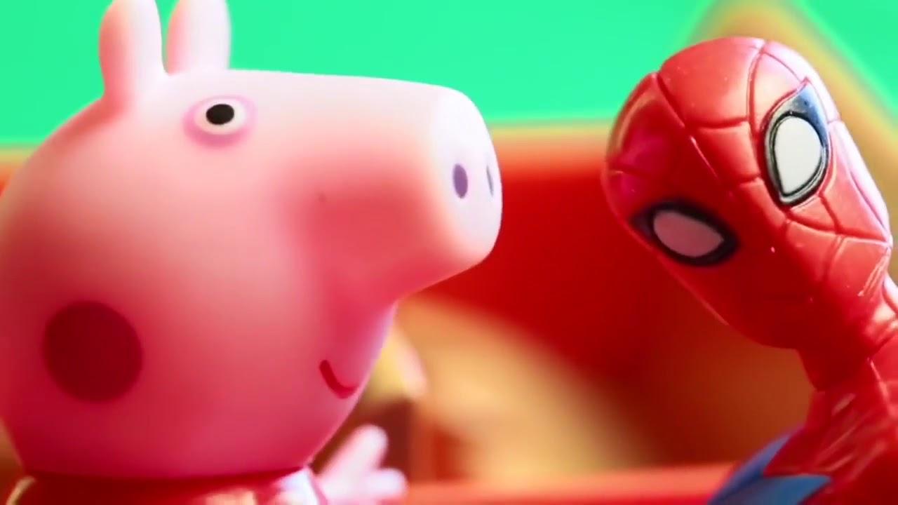 Свинка Пеппа Мультик с игрушками Джорджа сбила машина ...