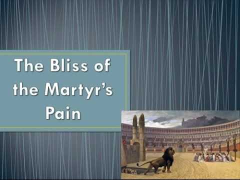 Bliss of the Martyr's Pain, Curtis McClane Bible class, 2016-10-05