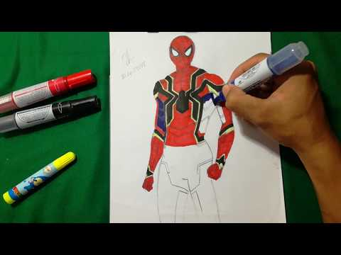 Iron Spider Show Avengers Infinity War Spider Man Coloring Pages