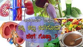 ಹೀಗೆ ಮಾಡಿದರೆ ಕಿಡ್ನಿಯಲ್ಲಿನ ಕಲ್ಲುಗಳು ಕರಗಿ ಹೋಗತ್ವೆ..!  How to remove Kidney stones without operation..?