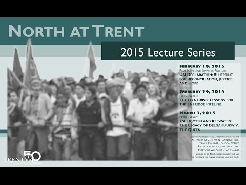 North at Trent 2015 Lecture Series with Ellen Gabriel