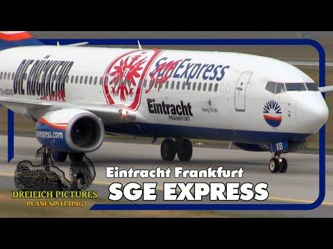 Eintracht Frankfurt SGE Express   SunExpress Boeing 737-800 D-ASXB