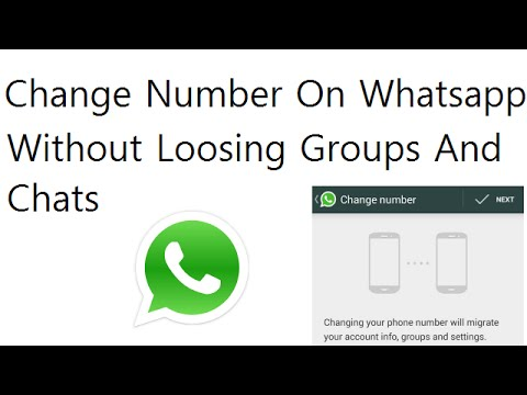 Change Mobile Number On Whatsapp Wihtout Loosing Old Chats And Group