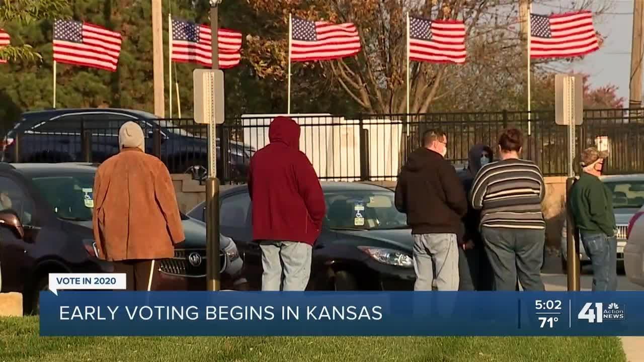 Early voting begins in Kansas