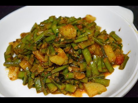 Batata Gavarichi Bhaji | Potato and Cluster Beans Recipe | MAHARASHTRIAN RECIPES | MARATHI RECIPES