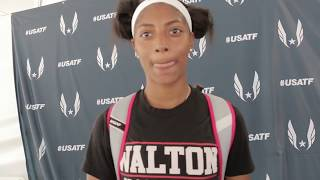 National Record Holder Tia Jones Excited Pan Ams