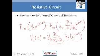 Phasor Method for Circuit Analysis
