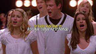 Glee: Keep Holding On (lyrics - sub español)