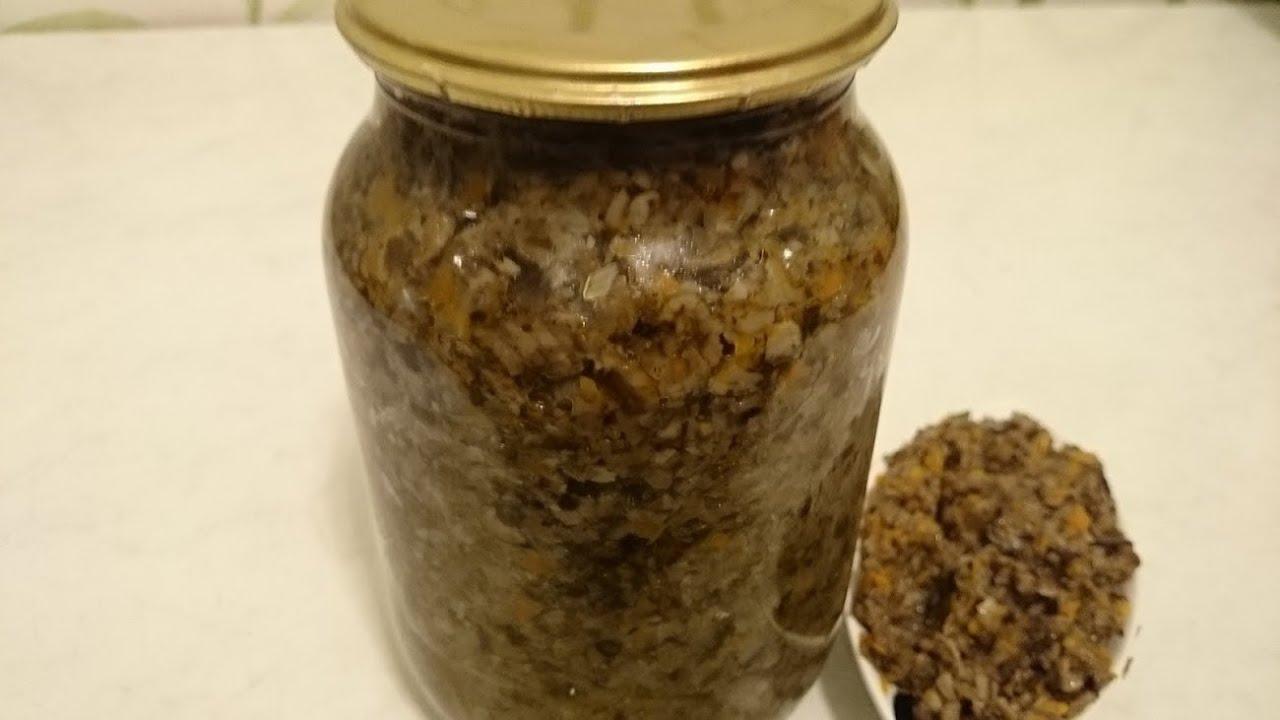 солянка грибная из опят на зиму