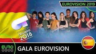 Operacion Triunfo Gala Eurovision song (LIVE REVIEW ) Spain Eurovision OT2018 OT 2018 eurovoxx