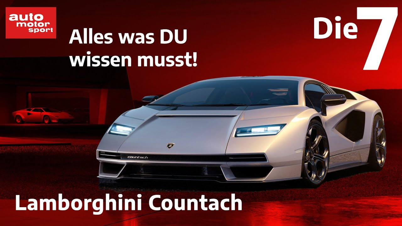 Download Lamborghini Countach (2021): Die 7 wichtigsten Fakten zum Comeback des Jahres! | auto motor & sport