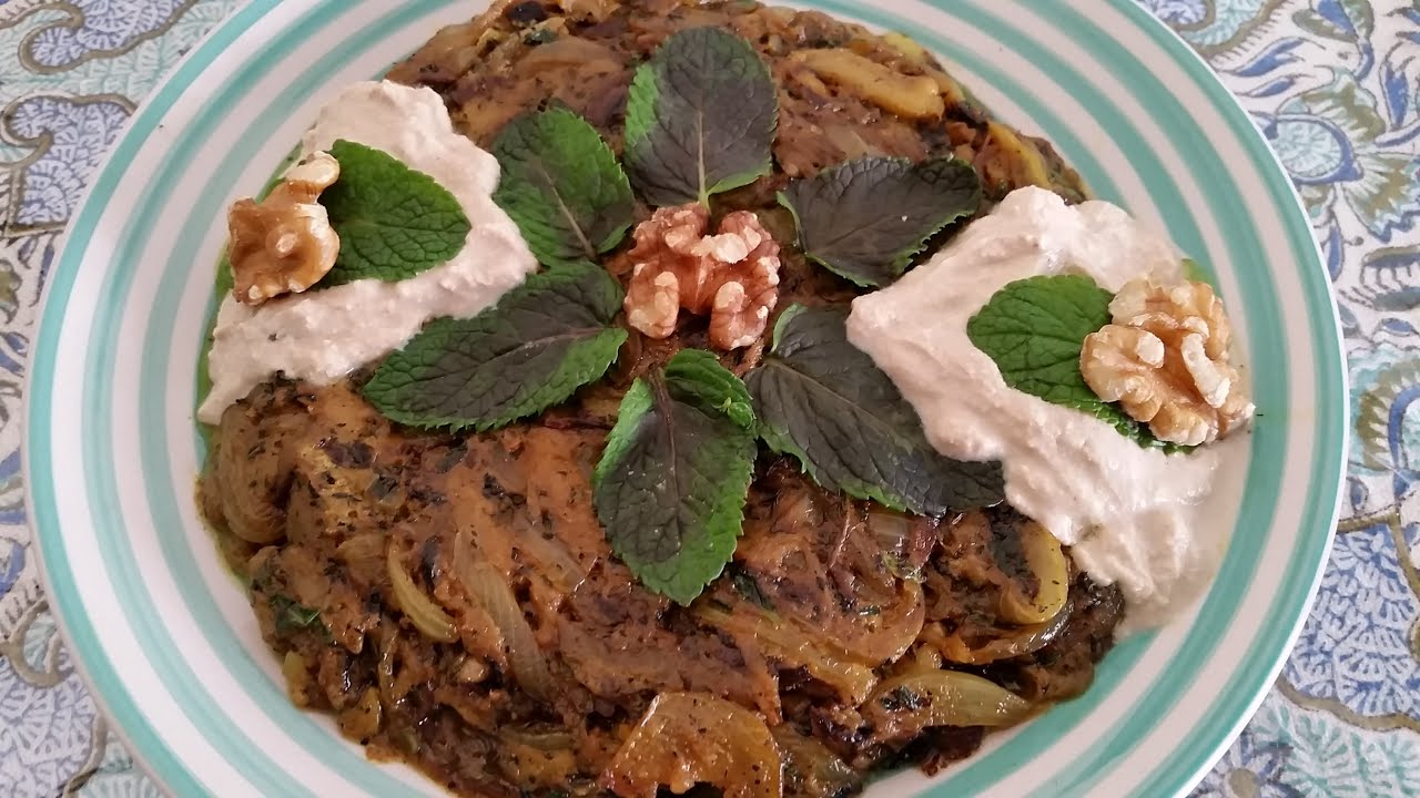 persische kochrezepte-vegetarisch-kashke bademjan(کشک و بادمجان ... - Persische Küche Vegetarisch