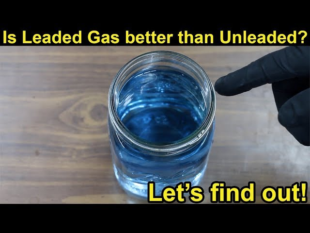 Is Leaded Fuel better than Unleaded?  Let's find out!