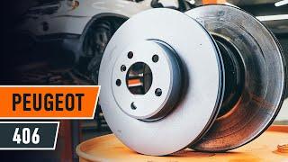 Hvordan bytte foran bremseskiver og bremseklosser på PEUGEOT 406 BRUKSANVISNING AUTODOC