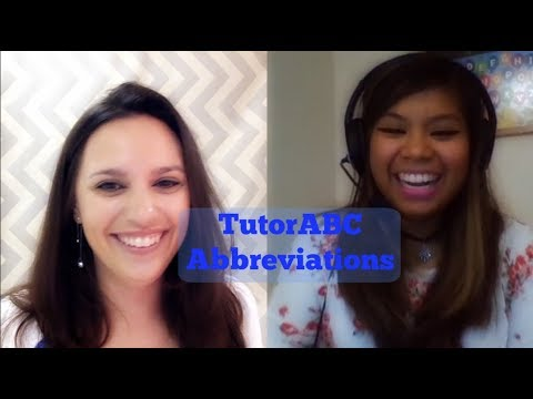 Interview with Nikki K- Tutor ABC Abbreviations