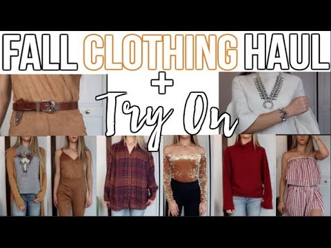 HUGE Fall Clothing Haul + Try On   UO F21 Show Me Your MUMU Free People    Noel Labb