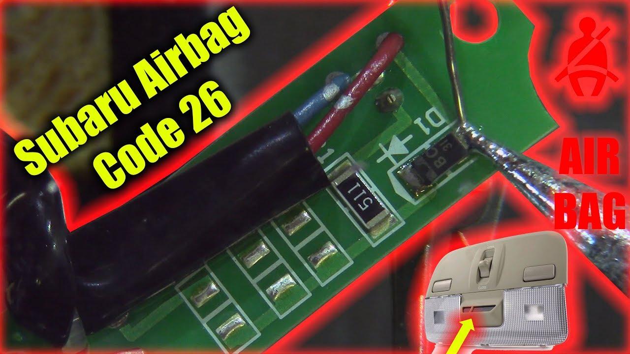 Subaru Airbag Code 26 Youtube 2000 Outback Lighting Wiring Diagram