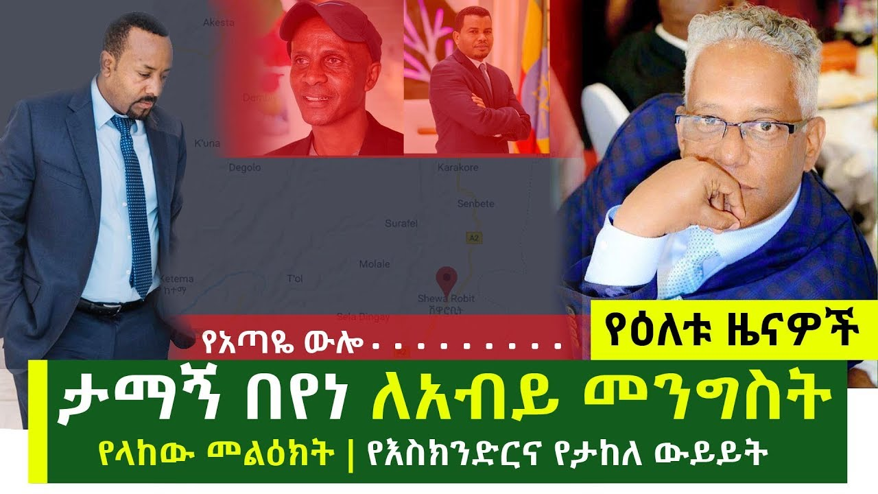 Message From Tamagn Beyene To The Government