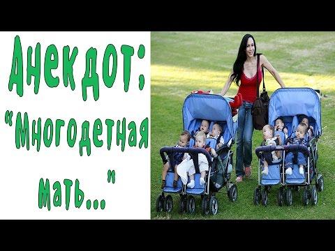 Многодетная мать...  Хорошие анекдоты
