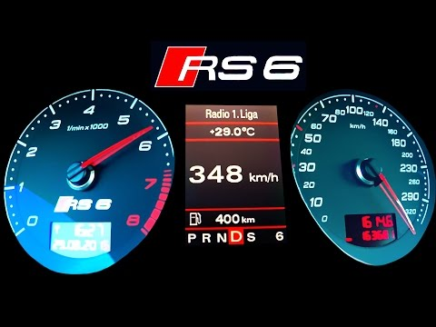 Audi RS6 Acceleration 0-340 Autobahn top speed  Onboard V10 Sound RS6 R C6 A6