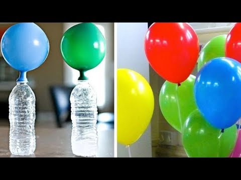 Simple Trick To Inflate Balloons Without Helium!