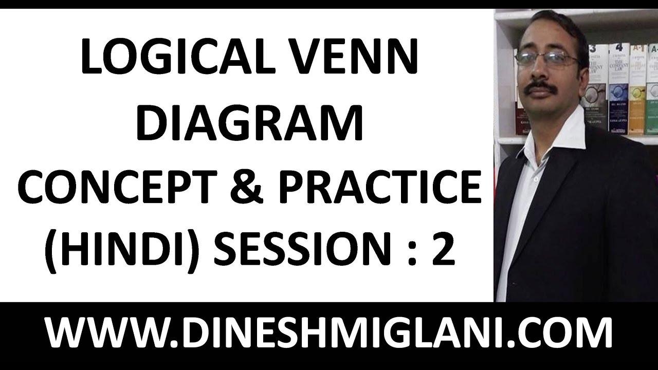 logical venn diagram in hindi medium concept and practice session rh youtube com