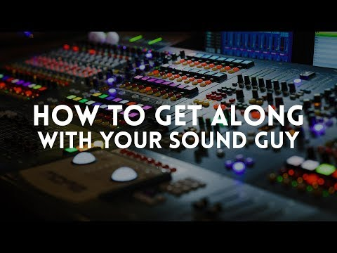 How to get along with the sound guy (or girl) at your church // Worship Leader Wednesday