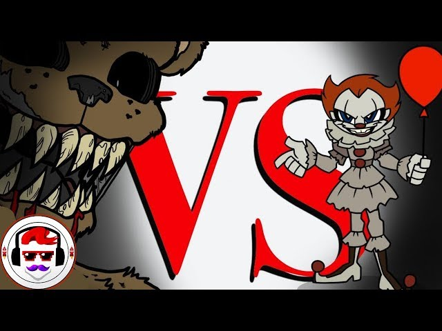 IT Movie VS Five Nights At Freddys - Rockit Gaming Rap Battle | Pennywise VS Freddy