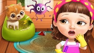 Sweet Baby Girl Cleanup Games - House Makeover, Pony Care & BBQ Pool Party Clean Up Fun Kids Games