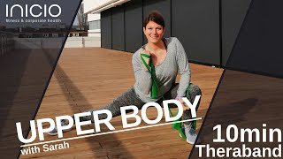 10min-fit-serie with Sarah: UPPER BODY with Theraband