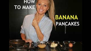 How to make Banana Pancakes -  Gluten Free, Low Calorie and Low Fat .