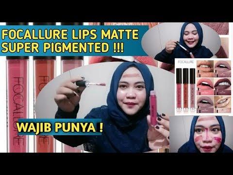 review-focallure-liquid-lipstick-matte-super-pigmented-  -shade-2,4,5,14
