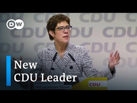 Kramp-Karrenbauer succeeds Merkel as CDU leader | DW News
