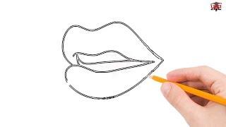 lips step easy simple sketch drawing mouth lip tutorial draw beginners drawings paintingvalley sketches getdrawings