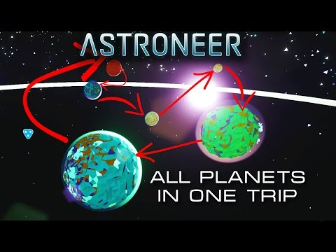 ASTRONEER All 6 Planets & Moons in the Game in One Trip