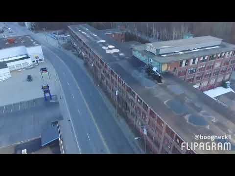 Drone flight Auburn, Maine.  Near Hannaford.