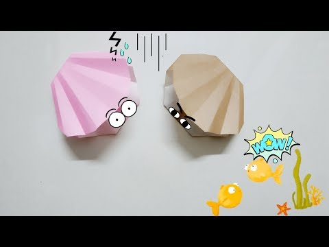 DIY Paper Origami - How to make mussel origami easy 🐚