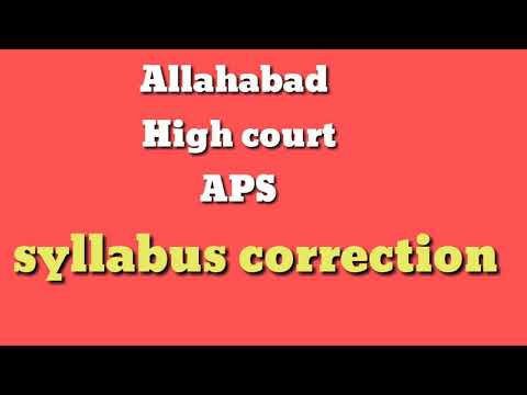 NEW SYLLABUS FOR ALLAHABAD HIGH COURT    BY LEGAL SHORTHAND SHADAB