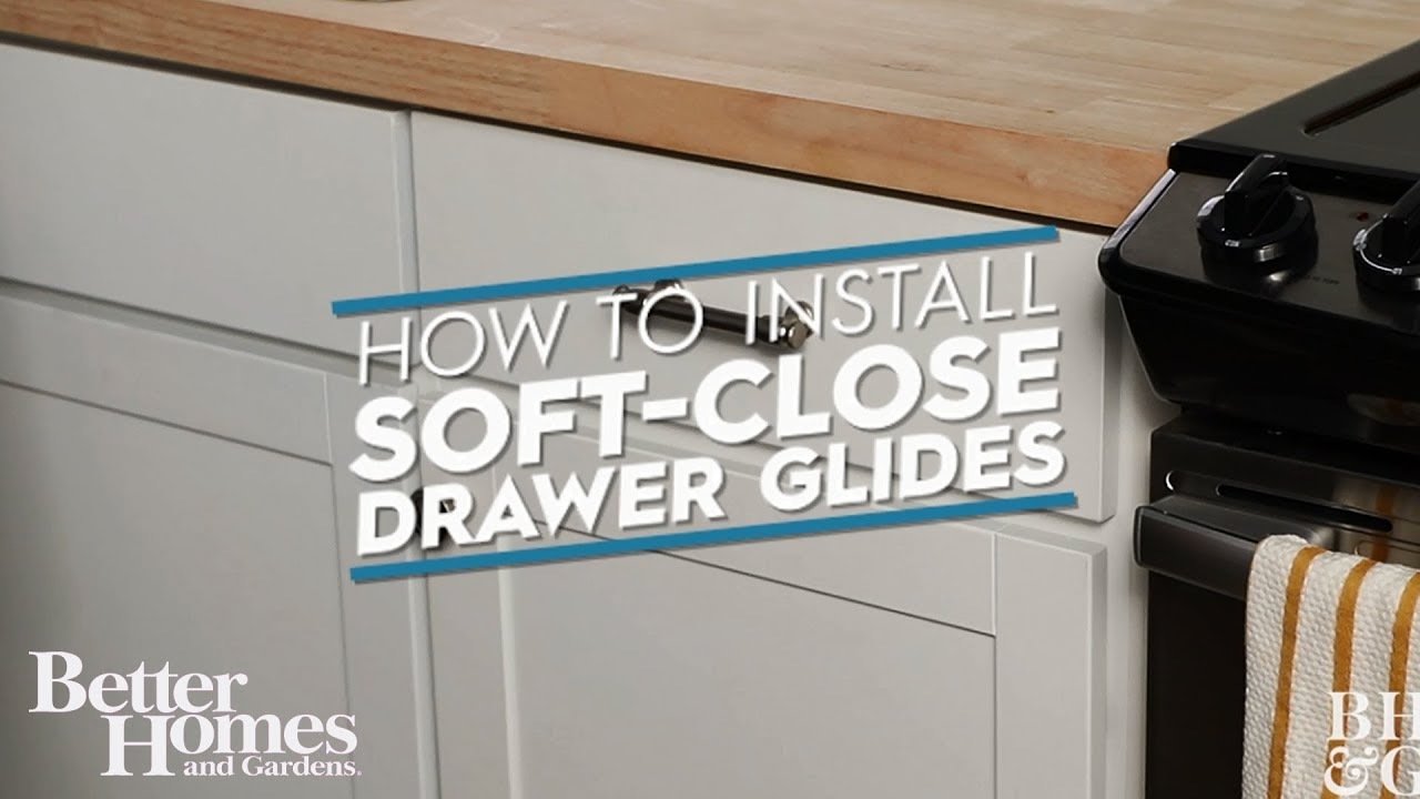 How To Install Soft Close Drawer Glides Youtube