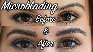 Microblading My Eyebrows for the 2nd Time - See The Results