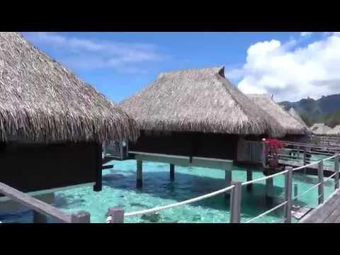 Hilton Moorea: King Overwater Bungalow 4K video