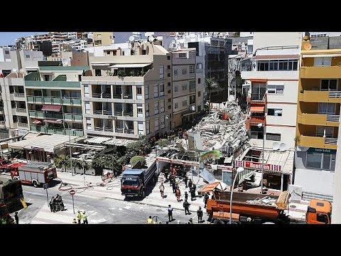 Apartment building collapse in Tenerife