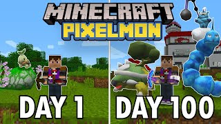 I Spent 100 Days in Minecraft Pixelmon... This is What Happened | Pokemon in Minecraft