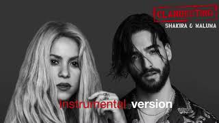 shakira ft maluma clandestino karaokeinstrumental version