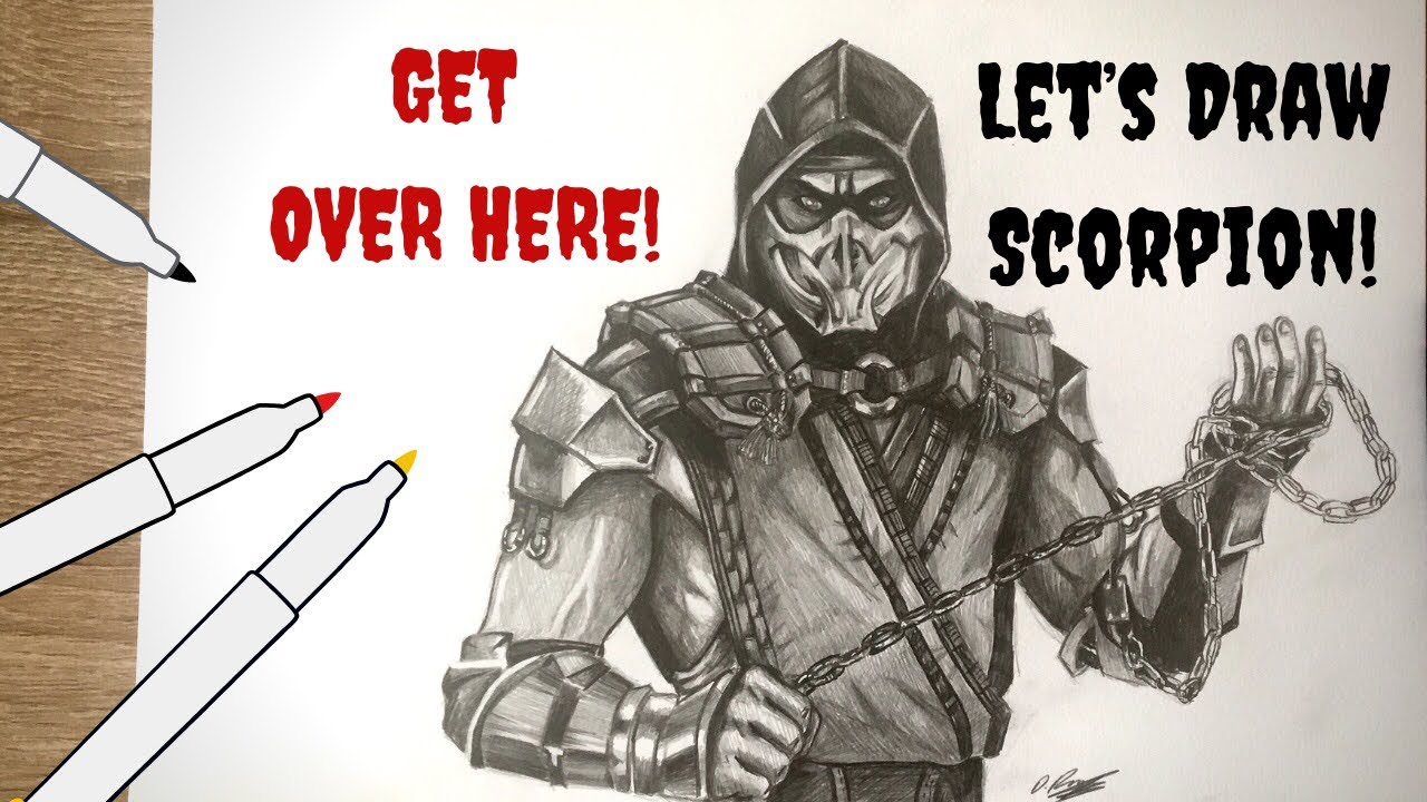 Let S Draw Scorpion Mortal Kombat 11 Youtube